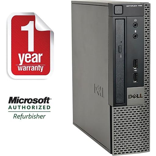 Dell 790-U Refurbished Small Form Factor Desktop Computer Intel Corei5-2400S 2.5Ghz, 4GB Memory, 500GB Hard Drive