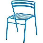 Safco CoGo Steel Outdoor/Indoor Stack Chair, Blue, 2/Carton (4360BU)