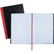 "Black n' Red?™ Casebound Business Notebook, Hardcover, Ruled, 96 Sheets, 8-1/4"" x 5-7/8"", Black (E66857)"