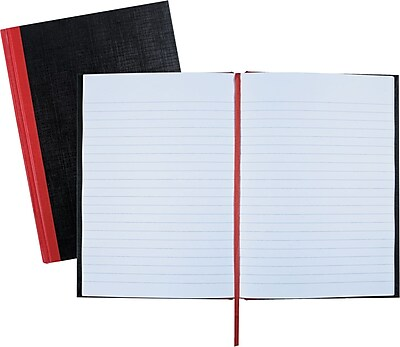 Black n' Red?™ Casebound Business Notebook, Hardcover, Ruled, 96 Sheets, 8-1/4