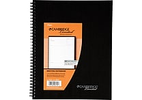 Cambridge® Meeting Format Notebook, 80 Sheets, 8-7/8' x 11', Black (06132)