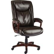 Staples Westcliffe Bonded Leather Managers Chair, Brown