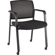 Staples Esler™ Mesh Guest Chair with Casters, Black