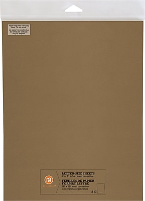 """""M by Staples, Letter Size Sheets, 8.5"""""""" X 11"""""""", Gold, 8/pack, (10825009)"""""" 2472474"