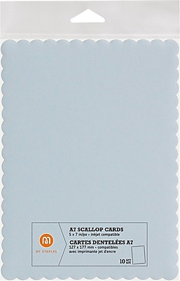 M by Staples®, Scallop Shape Card, A7, Light Blue, 10/pack, (10832006)18