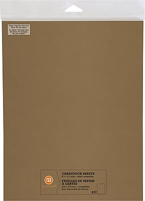 """""M by Staples, Cardstock Sheets, 8.5"""""""" x 11"""""""", Gold, 8/pack, (10826009)"""""" 2472523"