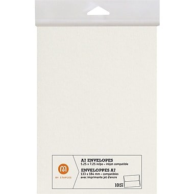 M by Staples®, Envelopes, A7, Ivory, 10/pack, (10833001)