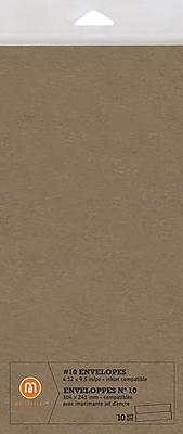 M by Staples®, Envelope, #10, Kraft, 10/pack, (16187)42