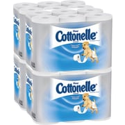 Kleenex® Cottonelle® 1-Ply Ultra Soft Unscented Toilet Paper, White, 12 Rolls/Pack, 4 Packs/Case (12456)