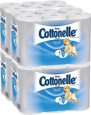 Kleenex® Cottonelle® Ultra Soft Standard Roll Bathroom Tissue, 150 Sheets/Roll, 12 Rolls/Pack, 4 Packs/Case (12456)
