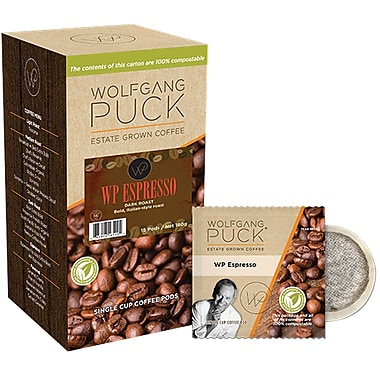 Wolfgang Puck Coffee Pods, 18 Pods/Box