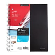 "Staples® Accel, Durable Poly Cover 1 Subject Notebook, College Ruled, 8-1/2"" x 11"", Black (20950M-CC)"
