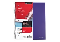 Staples® Accel, Durable Poly Cover 1 Subject Notebook, Wide Ruled, 8' x 10-1/2', Purple (20960-CC)