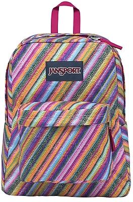 Jansport Superbreak Backpack, Multi Texture Stripe