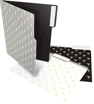 Staples® Heavyweight Martini File Folders, Letter, 3 Tab, 6/Pack (28875)