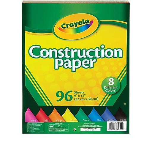 crayola 96 sheet construction paper staples