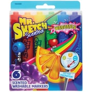 Mr. Sketch Scented Washable Markers, Chisel Tip, Assorted, 6/pk