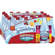 Arrowhead Brand Sparkling Mountain Spring Water, Variety Pack 16.9-Ounce Plastic Bottles, 24/Pack (12093605)