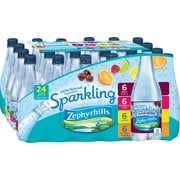 Zephyrhills Brand Sparkling Natural Spring Water, 16.9-Ounce Plastic Bottles, 24/Pack