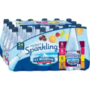 Ice Mountain Brand Sparkling Natural Spring Water, Variety Pack 16.9-Ounce Plastic Bottles, 24/Pack (12129032)