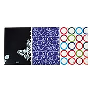 """Staples® Arc System Poly Covers, Assorted Designs, 6-3/8"""" x 8-3/4"""" (50051)"""