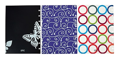 Staples® Arc System Poly Covers, Assorted Designs, 6-3/8
