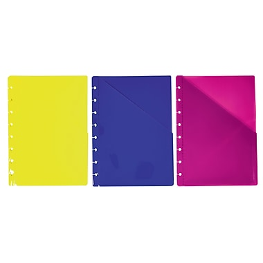 Staples® Arc System Pocket Dividers, Assorted Colors, 6-1/5
