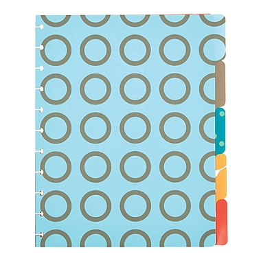 Staples® Arc System Tab Dividers, Assorted Patterns, 9