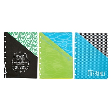 Staples® Arc System Pocket Dividers, Assorted Fashion, 6-1/5