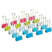Poppin, Small Binder Clips, Assorted, Set of 20, (102777)