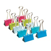 Poppin, Medium Colored Binder Clips, Assorted, Set of 10 (102776)