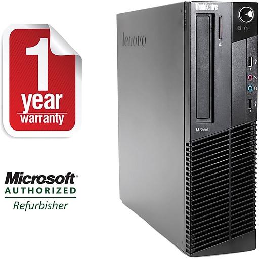 Lenovo M81-SFF Refurbished Desktop Core i7-2600 3.4Ghz, 8GB Memory, 500GB HDD, DVDRW, Windows 10 Professional 64bit