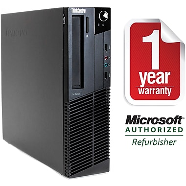Refurbished Lenovo M91P-SFF, Desktop Core i7-2600 3.4Ghz, 4GB Ram, 500GB HDD, DVDRW, Windows 10 Professional 64bit