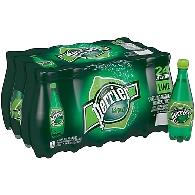 Perrier® Sparkling Natural Mineral Water, Lime, 16.9 oz., 24/CT