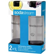 SodaStream® 1 Liter Carbonating Bottles Twin Pack, Black (1042221010)