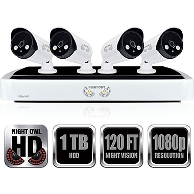 Refurbished Night Owl 4 Channel Full 1080p NVR with 1TB HDD NVR10-441-R-PF