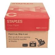 "Staples® Copy Paper, 8 1/2"" x 11"", Case"
