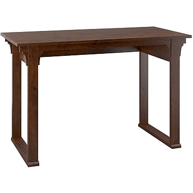 Bush Furniture Mission Creek 48W Writing Desk, Antique Cherry, 47.16