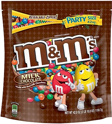 M&M's® Milk Chocolate Candy, 42 oz. Bag