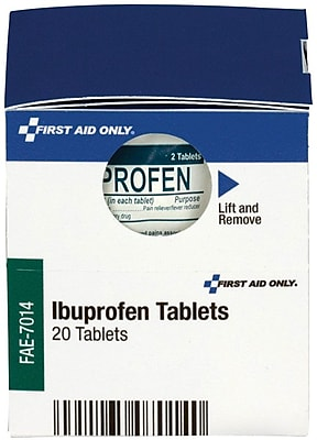 First Aid Only™ Ibuprofen Tablets, 10/Box (FAE-7014)