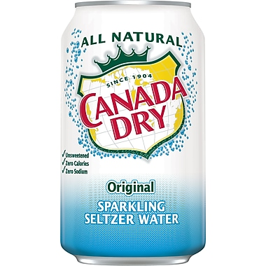 Canada Dry Original Sparkling Seltzer Water, 12 oz. Cans, 24/Pack (78000147162)