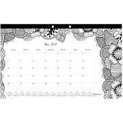 "Blueline®, Monthly Coloring Desk Pad Calendar, 2017 Jan. - Dec. , 17.75"" x 10.875"", DoodlePlan (C2917001)"