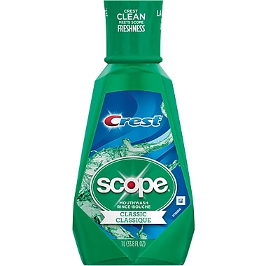 Scope® Mouthwash, Original Mint, 33.8 oz., 6/Case