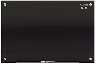 Quartet® Infinity™ Glass Magnetic Marker Board, Black Surface, Frameless, 8'W x 4'H (G9648B)