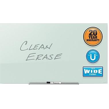 quartet invisamount magnetic glass dryerase board 74u201d x 42u201d - Glass Dry Erase Board