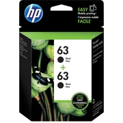 HP 63 Black Ink Cartridges (T0A53AN#140), 2/Pack