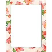 """Great Papers! Watercolor Bloom Letterhead   8.5"""" x 11""""  80 count (2012388)"""