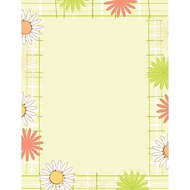 Great Papers! Daisy Plaid Letterhead 8.5