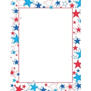 """Great Papers! Red White And Blue Stars Letterhead   8.5"""" x 11""""  80 count (2014246)"""