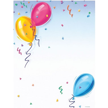 Great Papers! Balloons Letterhead 8.5